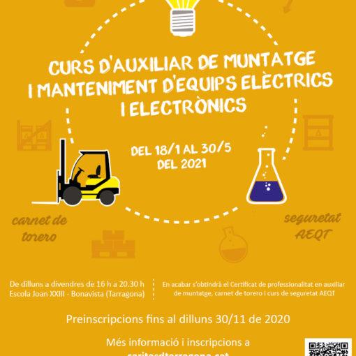 Cartell Curs Electricitat Torero AEQT